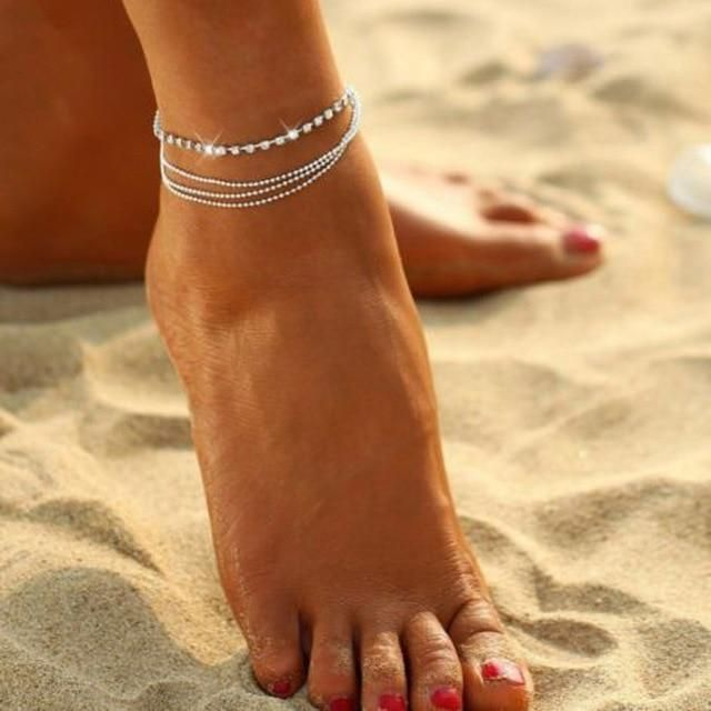 imixlot Anklets for Women Girls Ankle Chains Bracelets Adjustable Beach Anklet Foot Jewelry