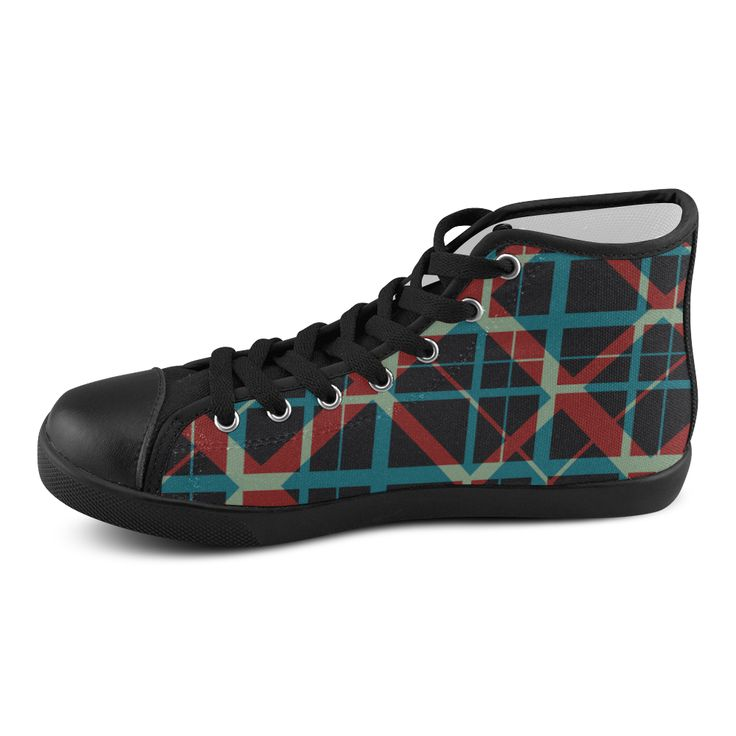 High Top black Canvas shoes hipster style plaid pattern  by Scar Design #shoes #womenshoes  #cheapshoes #uniqueshoes #plaidshoes #hipster #leatherlowtopshoes #hightops #hipsterhitopshoes #plaidhightopshoes #womenshitops #everydayshoes #hipstershoes #hipsterstyle #plaid #coolshoes #buyshoes