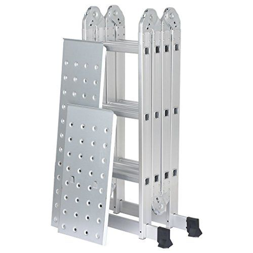 Simple Finether FT Extendable Aluminum Folding Ladder with https
