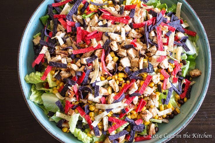 Catz in the Kitchen: {Copycat} Panera Bread BBQ Chopped Chicken Salad