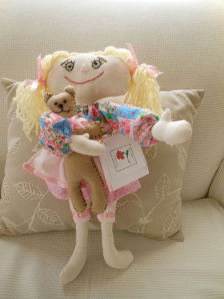 Pretty Patsy is so precious with pretty country clothes and holding her teddy bear.