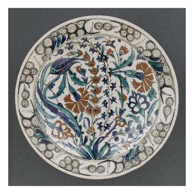 Plat aux fleurs - Musée national de la Renaissance (Ecouen)