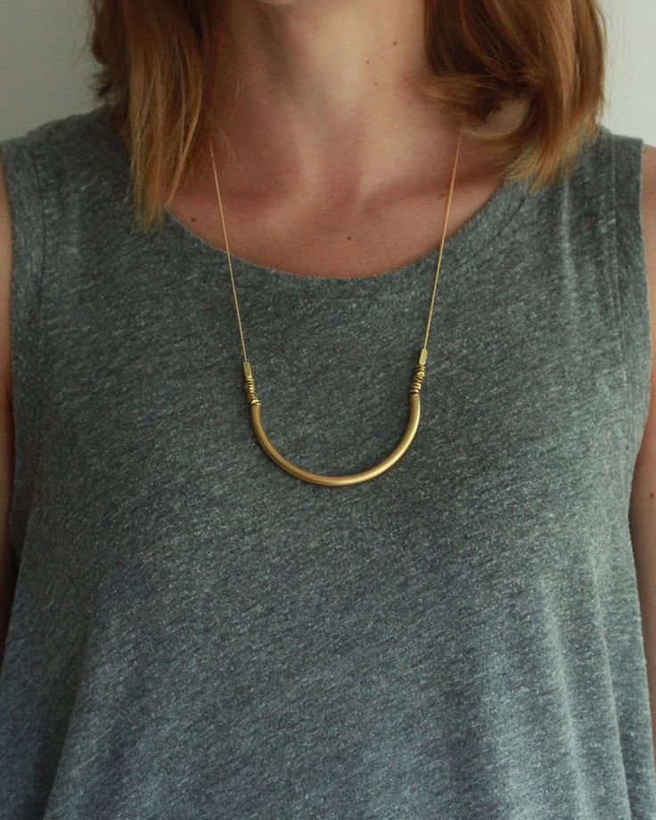 Maslo Jewelry | Crescent Moon Necklace