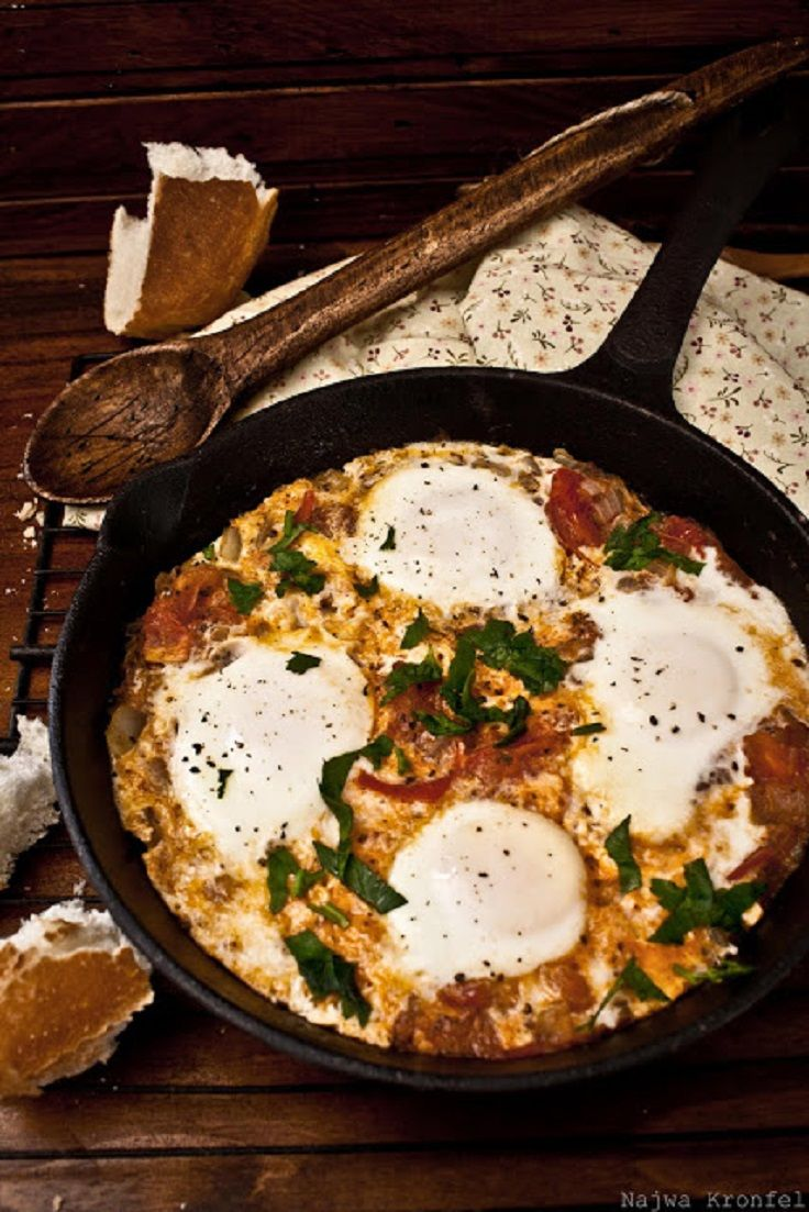 Shakshuka- this is definitely a must try. Eggs poached in tomatoes