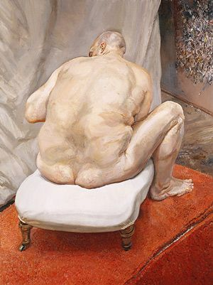 Homme nu, vue dorsale - 1992 - Lucien Freud  Art Experience NYC  www.artexperiencenyc.com