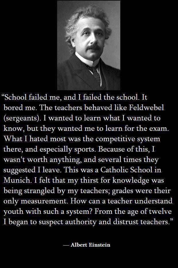Einstein on schools and learning