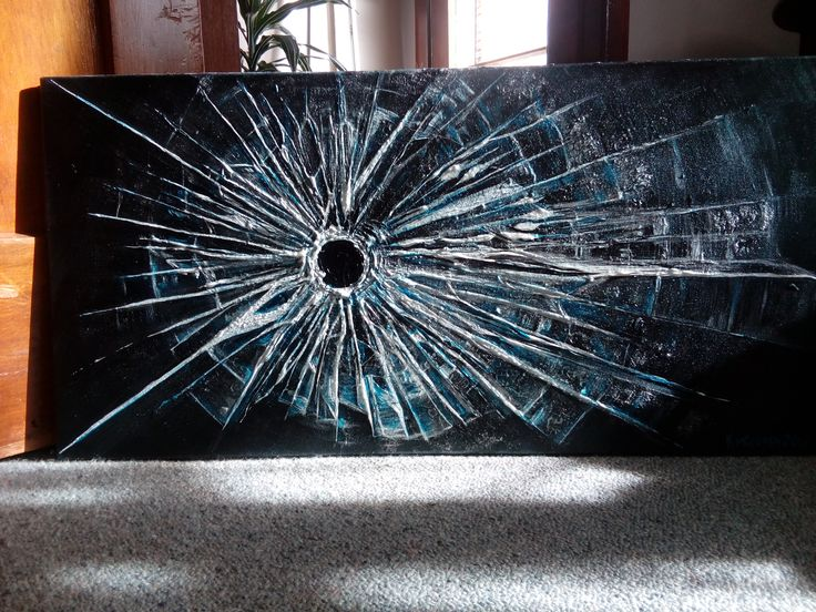 """Anthropocene"" - Bullet Through Glass - by Karen M Crosby 2017"