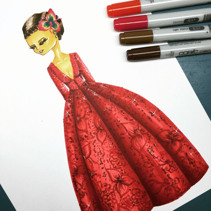 Fashion illustration / haute couture Laura Páez