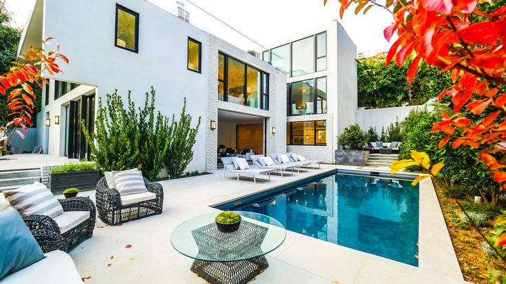 Celebrity owned Hollywood Hills Home: John Krasinksi, Emily Blunt  Listing Agent: Catherine Marcus Production: Beverly Hills Aerials