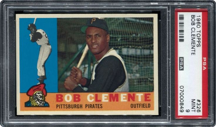 For sale is a 1960 Topps #326 PSA 9 Roberto Clemente Card.There are no cards graded higher than this gem! This card displays amazing color and has four sharp corners!You will receive actual card picture d above. | eBay!