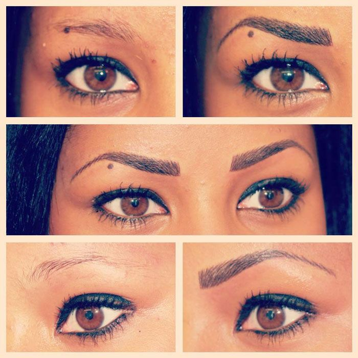 Permanent Eyebrows Before and After | Before and After