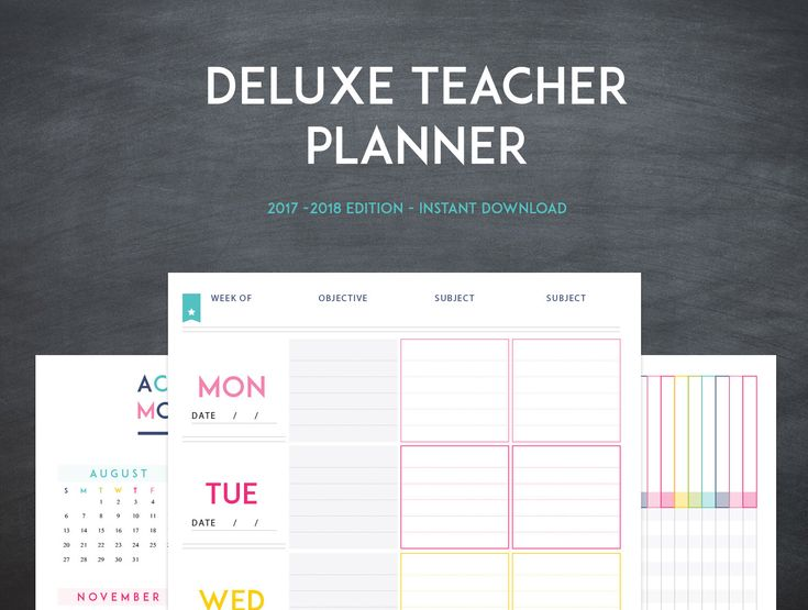Deluxe Teacher Planner -  INSTANT DOWNLOAD - 20+ Organizational Printables - Teacher Lesson Planner -  2017-2018 - Classroom Organization by SweetPaperTrail on Etsy https://www.etsy.com/listing/223406990/deluxe-teacher-planner-instant-download