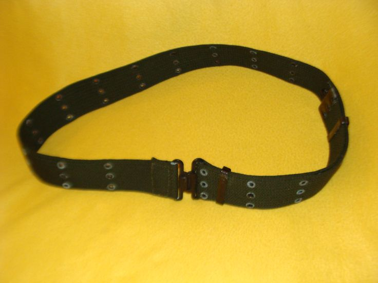 Portuguese Army M64 combat belt (three grommet rows variant)