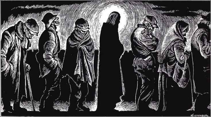 Jesus of the Breadlines by Fritz Eichenberg, ca. 1951.