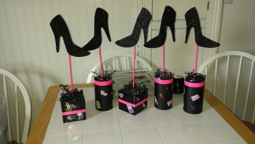 Fashion show party centerpieces