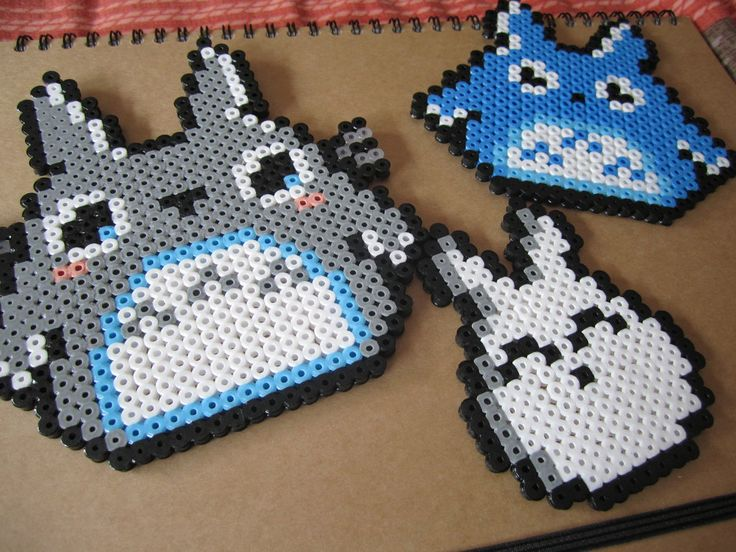 106 Best Totoro Images On Pinterest Hama Beads Pearler