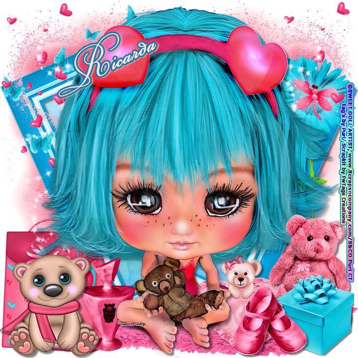 "MI RINCÓN GÓTICO: CT SWEET DOLL ARTIST & CT FwTags Creations, ""I love my teddy bead"""