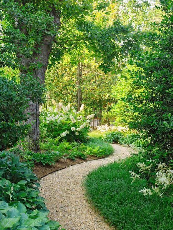kies weg im garten, bummeln im garten-alleen gestalten-kiesweg anlegen   landscaping, Design ideen