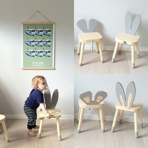 "mommo design: 10 LOVELY IKEA HACKS Flisat ""bunny"" stool"