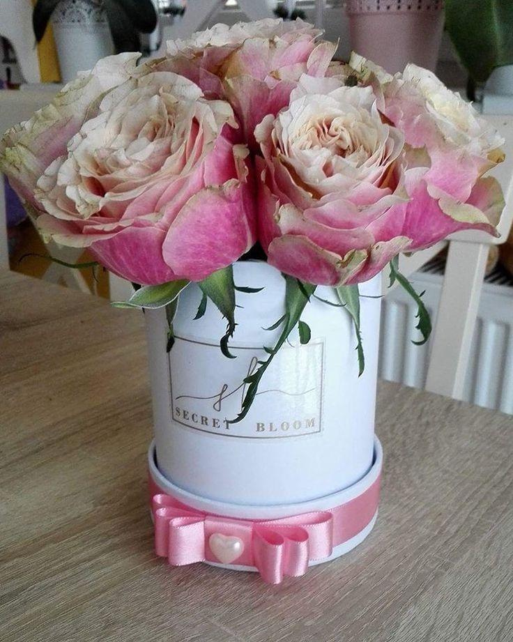 Pink Roses Luxury Roses Mini box of natural flowers Luxury flower box Secret Bloom Boxes