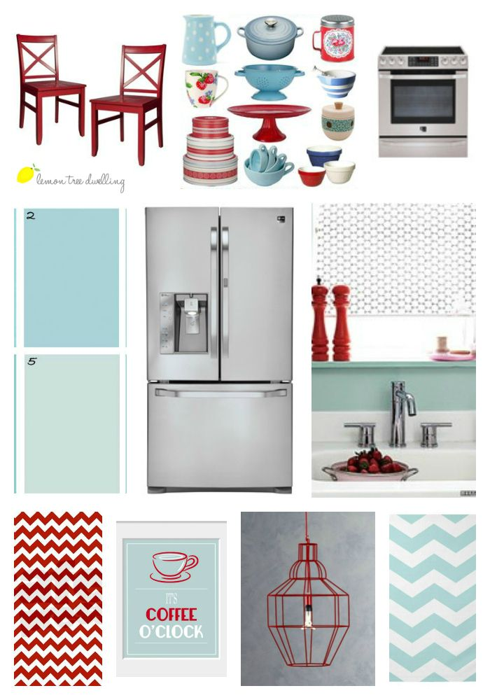 Some How My Kitchen Has Ended Up Teal And Red Style Board Inspired By Lg Studio Collection This Post Also Includes The Chance To Win A New