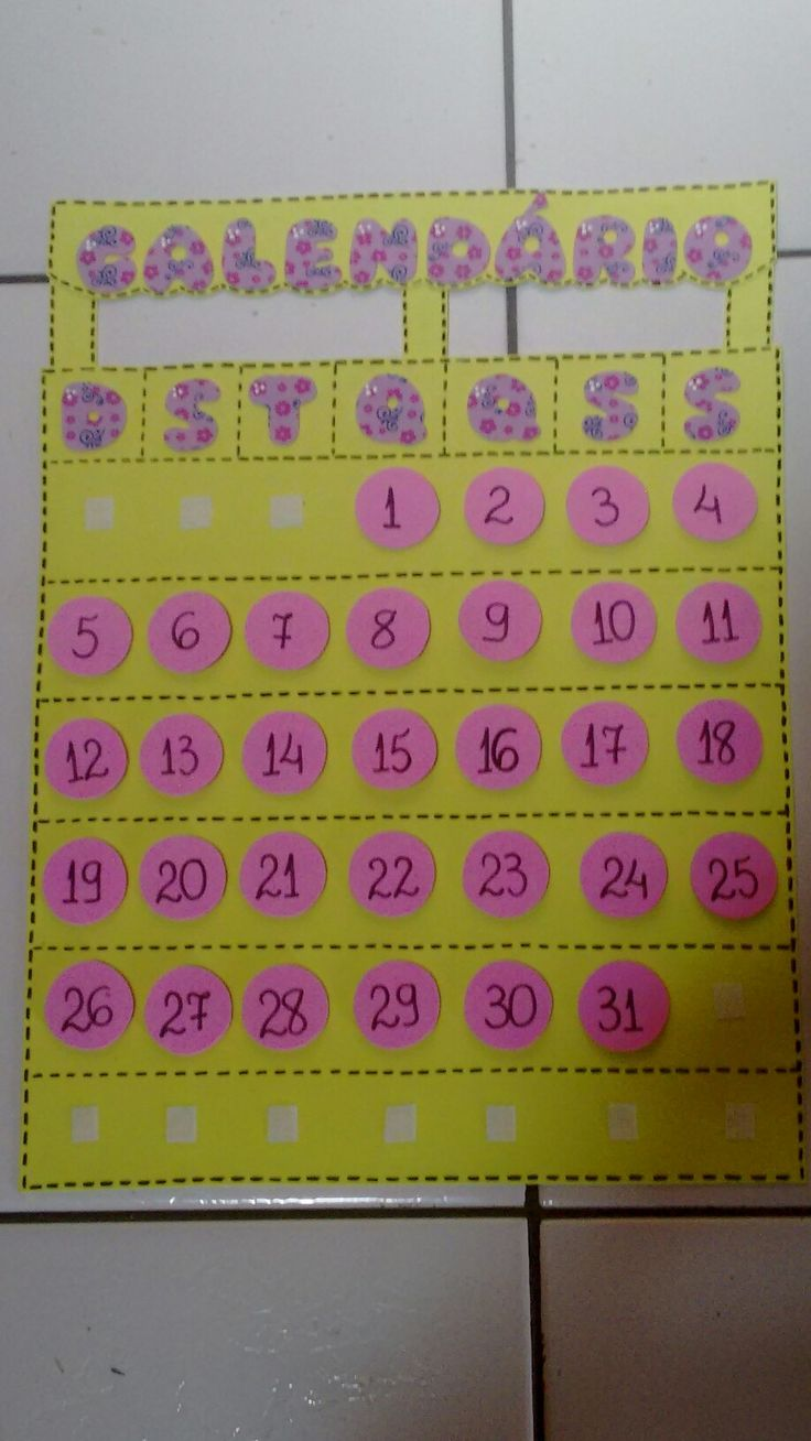 Calendário em e.v.a