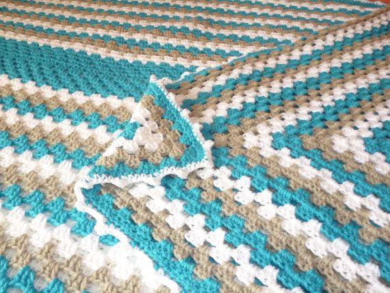 Crochet afghan/ Crochet baby blanket/ Lap by HeartMadeByMarina
