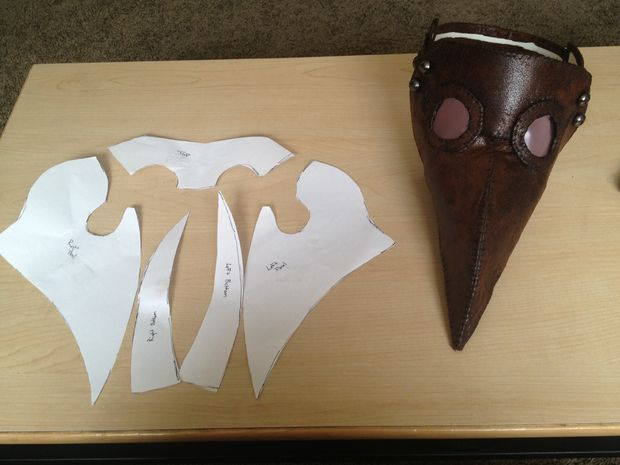 Making a plague doctor mask - I am totally doing this!