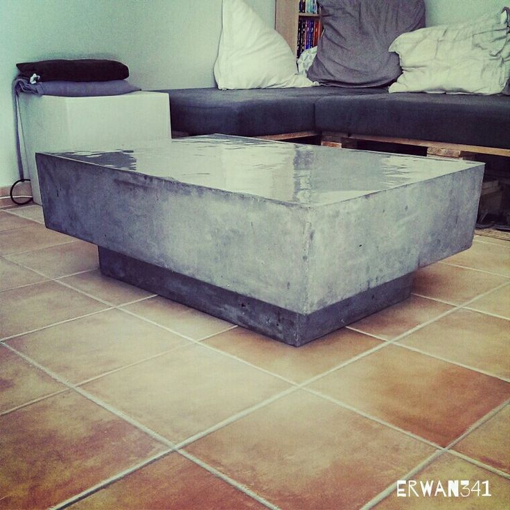 1000 ideas about table basse b ton cir on pinterest - Table basse imitation beton ...