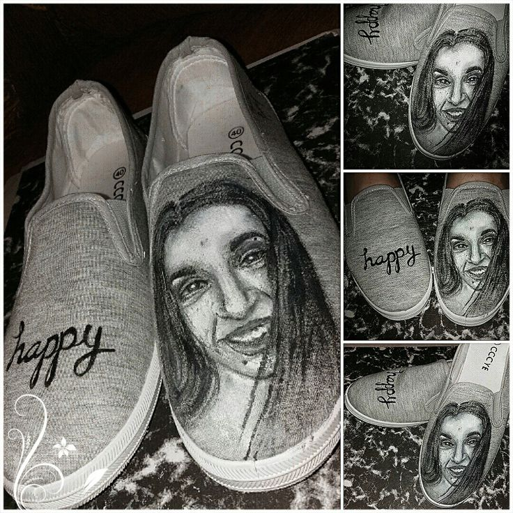 Shoes,my face, painting on shoes