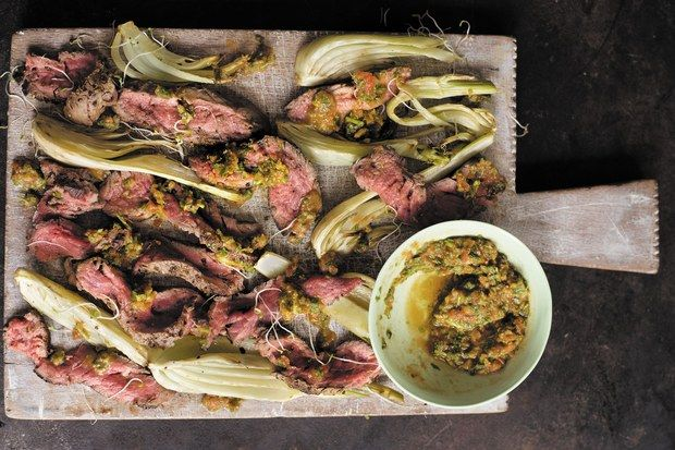 Minute steak with roasted fennel / Photo by Susan Bell
