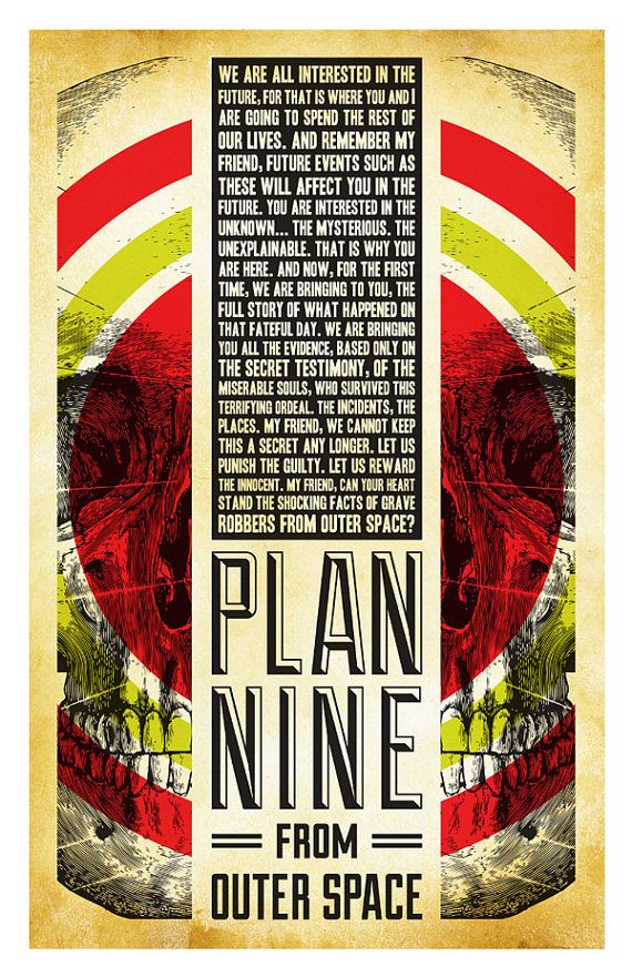 Plan 9 from outer space alternative movie poster by for Outer space planning and design group