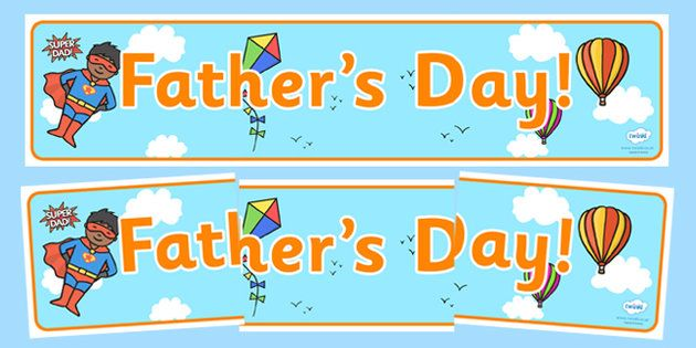 Fathers Day Display Banner - dad, father, header, display header