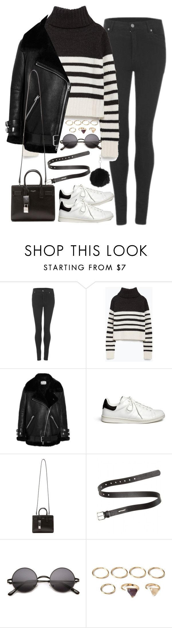 """Untitled#4198"" by fashionnfacts ❤ liked on Polyvore featuring Cheap Monday, Zara, Acne Studios, Étoile Isabel Marant, Yves Saint Laurent, Forever 21 and Topshop"