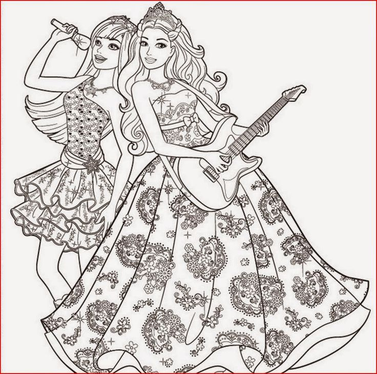Image result for rock star barbie coloring pages for girls
