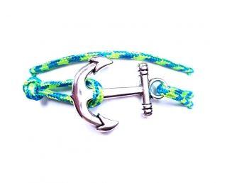 Anchor horgony karkötő kék-zöld