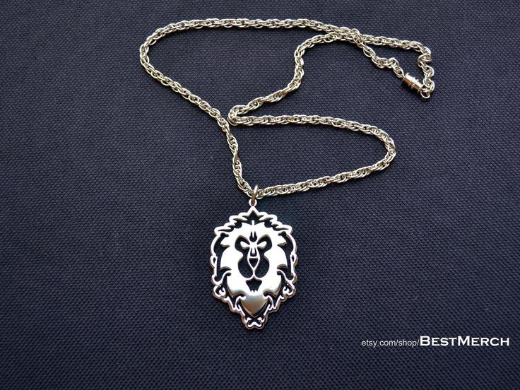 world of warcraft wow logo alliance pendant i this