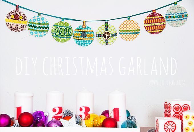 DIY christbaumkugel weihnachtsgirlande | Jolijou
