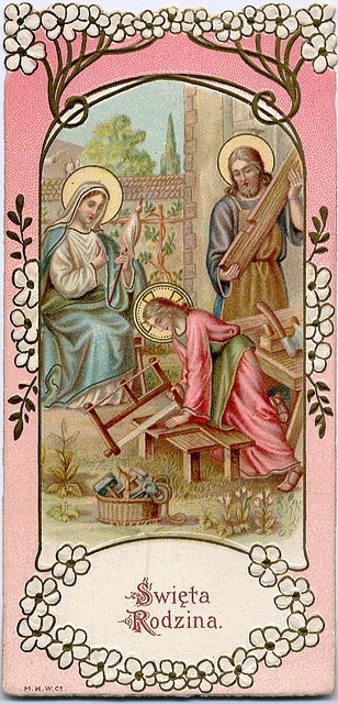 Holy Family - Jesus learn carpentry