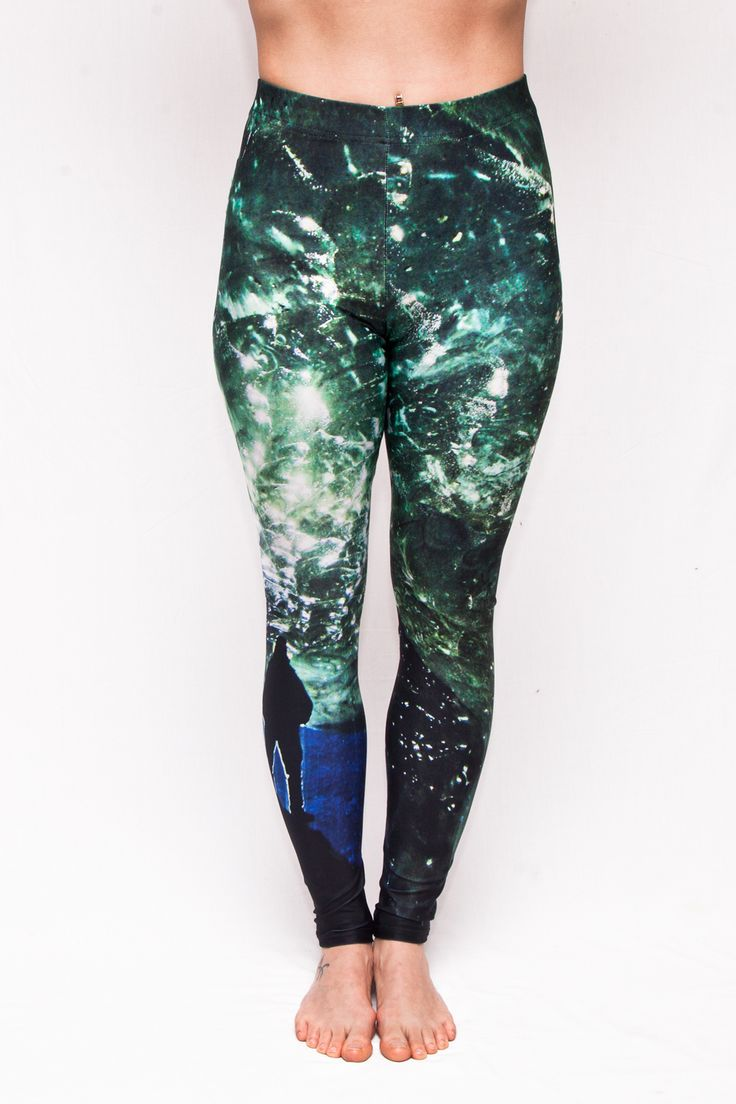 """""""Ice Cave"""" Glacier Leggings - 70$ Free Shipping to Canada & USA Ethically Made in Canada."""