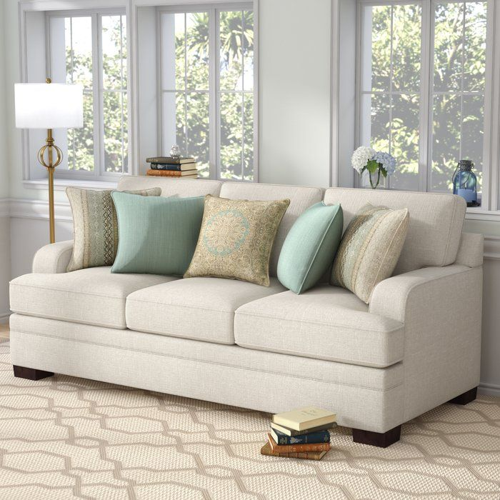 Simmons Upholstery Hattiesburg Parchment Sofa Brown Living Room