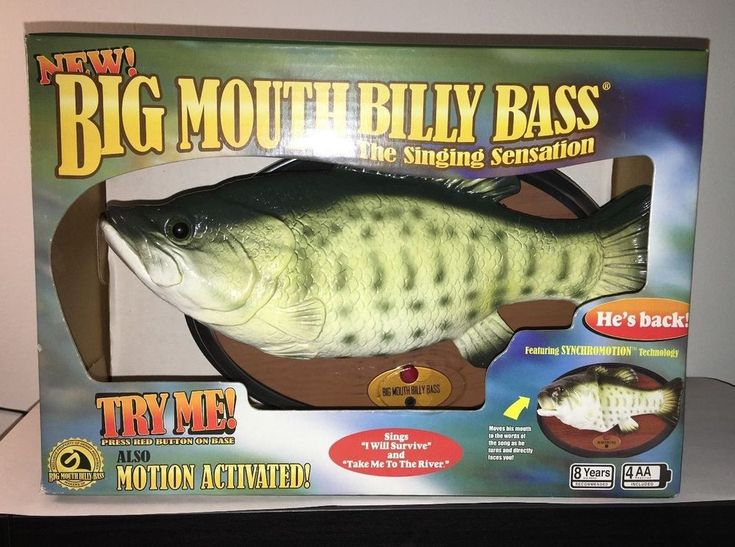 Big Mouth Billy Bass The Singing Fish Is Back Gemmy ~ New In Box ~ Free Shipping #Gemmy