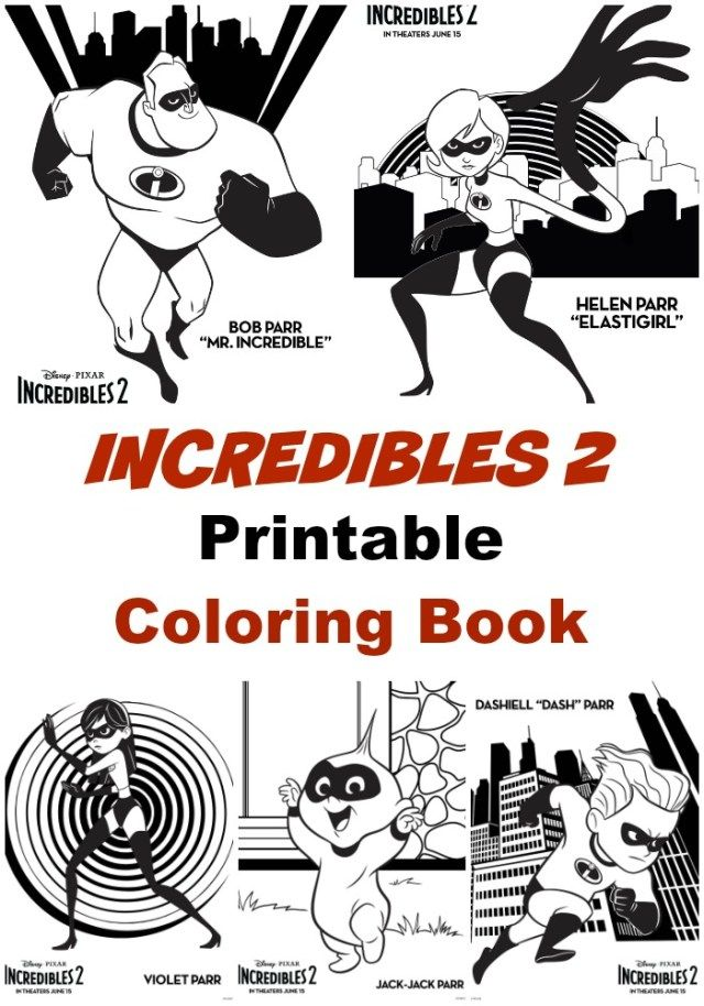 Top 10 Free Printable The Incredibles Coloring Pages
