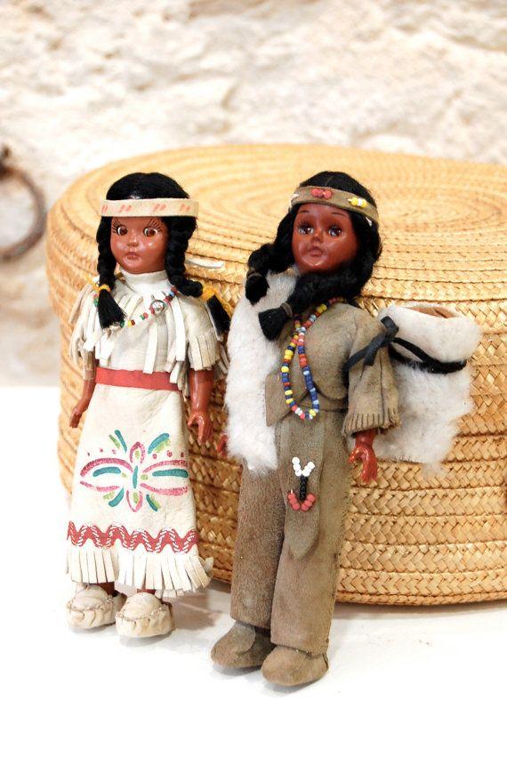 Poupées souvenirs native américaines