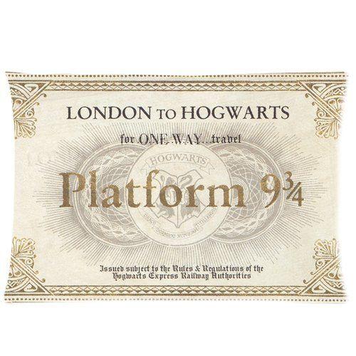 Harry Potter Hogwarts Train Ticket Pillowcase