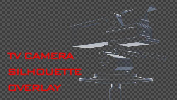 TV Camera Silhouette Overlay  broadcast, film, Film Camera, movie, overlay, studio, transition, tv, tv camera