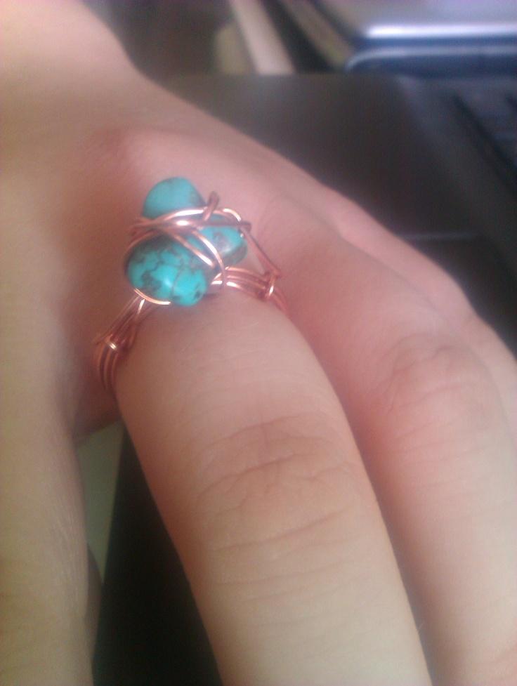 Ring, tirquoise stone