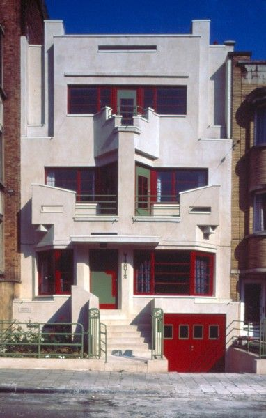 Art Déco, Withuis, av. Charles Woeste 183, Jette, 1927, architect ...Joseph Diongre. Bruxelles, Brussels, Belgium