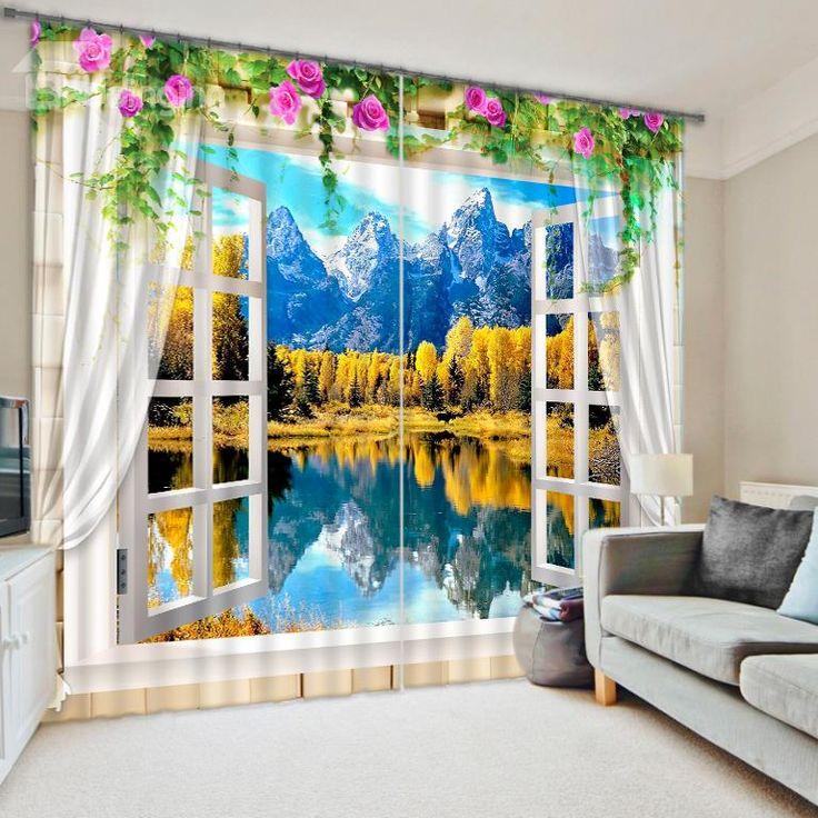 166 best 3d curtains images on pinterest | curtains, blackout
