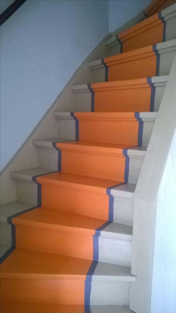 17 beste afbeeldingen over annie sloan chalk paint op trappen op pinterest frans beddengoed - Gang verf ...